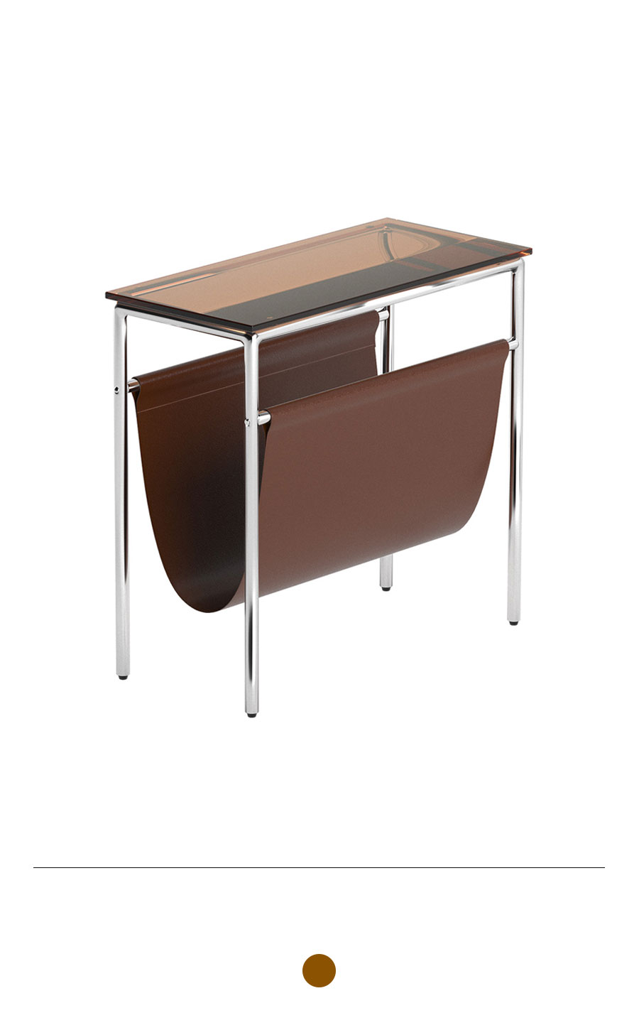 MIHLA Magazine Rack Table (Brown)